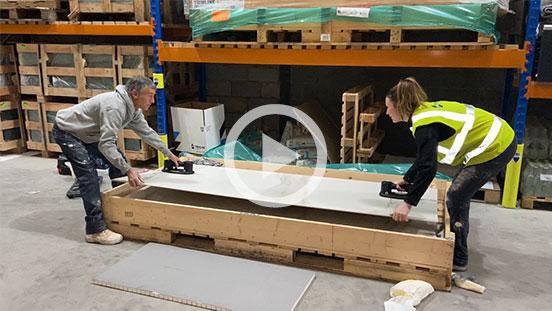 Lifting a large panel